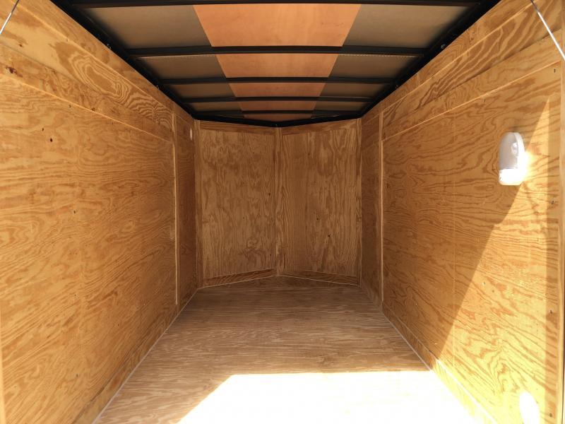 2019 Rock Solid Cargo 5x10' Enclosed Cargo Trailer 2990# GVW - WHITE