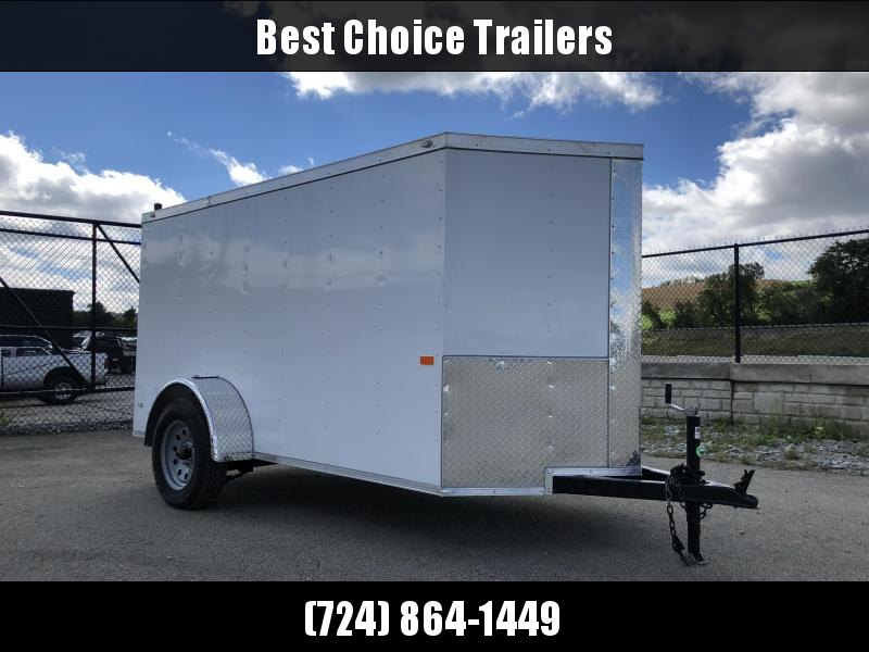 2019 Rock Solid Cargo 5x10' Enclosed Cargo Trailer 2990# GVW - WHITE
