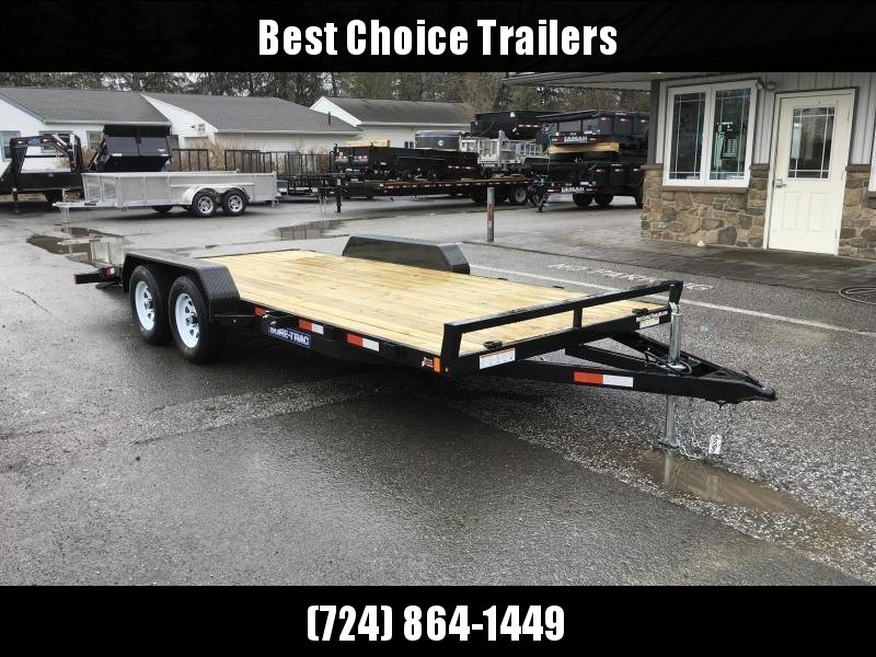 2018 Sure-Trac CHW 7x18 7000# Wood Deck Car Hauler * CLEARANCE - FREE ALUMINUM WHEELS