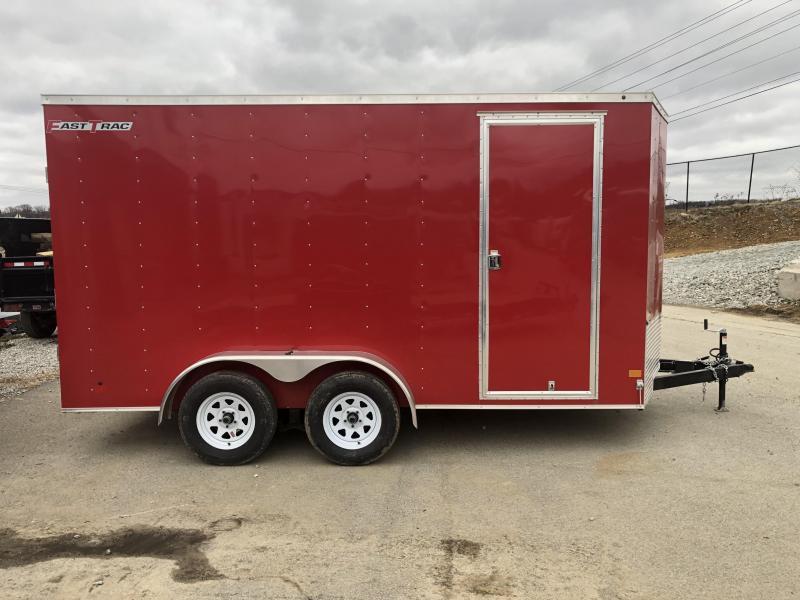 2019 Wells Cargo 7x14' Fastrac Enclosed Cargo Trailer 7000# GVW * RED * 7' HEIGHT * SPARE TIRE * UTV HAULER