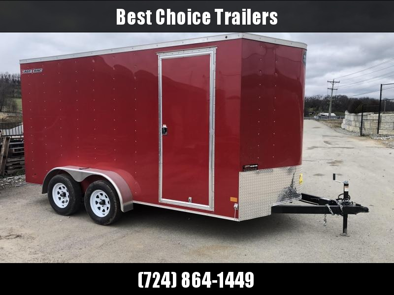 2019 Wells Cargo 7x14' Fastrac Enclosed Cargo Trailer 7000# GVW * RED * 7' HEIGHT * SPARE TIRE * UTV HAULER