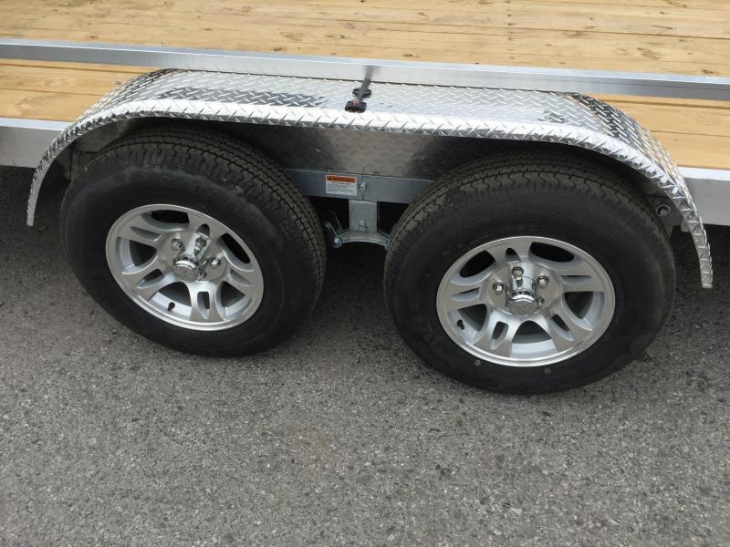 2019 QSA 7x16' Aluminum Utility Trailer 7000# GVW * ATV SIDE RAMPS