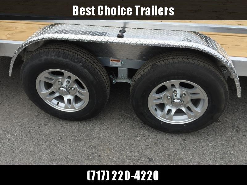 2019 QSA 7x16' Aluminum Utility Trailer 7000# GVW * ATV SIDE RAMPS
