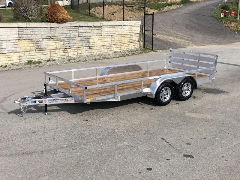 2019 H&H 7x16' TRSA Aluminum Utility Landscape Trailer 7000# GVW * ALUMINUM WHEELS * BI-FOLD GATE