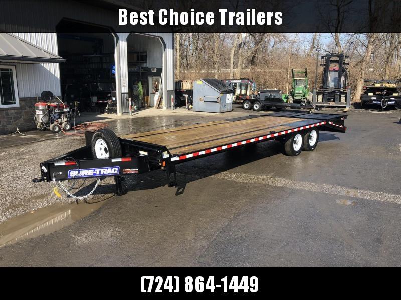 2019 Sure-Trac 102x20+5 15K Beavertail Deckover Trailer * FULL WIDTH RAMPS