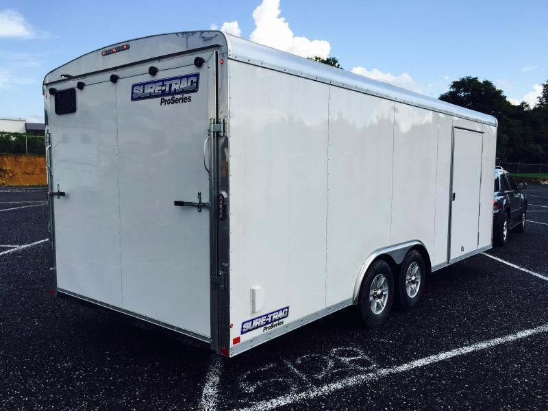2019 Sure-Trac 8.5x20' STRCH Commercial Round Top Enclosed Car Hauler Trailer 9900#