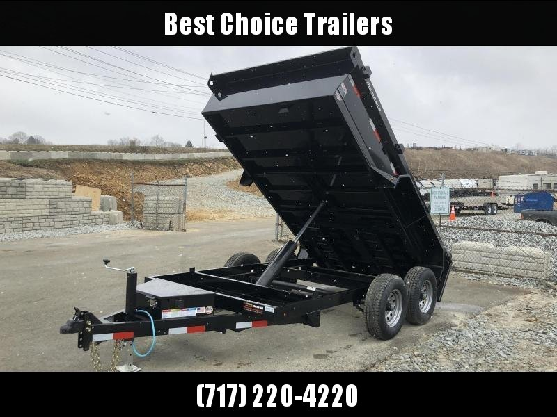 2018 Lamar 77x12' DM LowPro Dump Trailer 9990# - STANDARD * RAMPS  * SPARE MT * CHARCOAL * TARP KIT * CLEARANCE - FREE ALUMINUM WHEELS