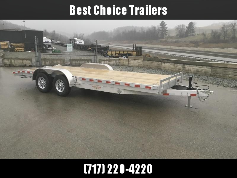 "2018 H&H 7x20' 9990# Low Profile Aluminum Car Hauler * HEAVY DUTY * TORSION AXLES * 8"" FRAME * SWIVEL D-RINGS * EXTRUDED BEAVERTAIL * EXTRA STAKE POCKETS * CLEARANCE"