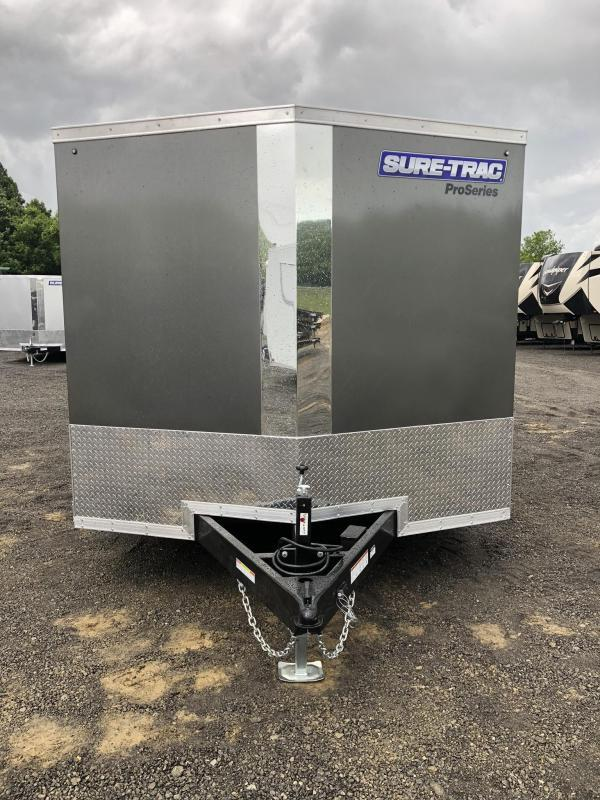 "2019 Sure-Trac 8.5x20' Enclosed Car Trailer 9900# GVW * DELUXE * CHARCOAL * 7K JACK * ESCAPE HATCH * FINISHED WALLS * NUDO FLOOR & RAMP * TORSION * 48"" DOOR & MORE"
