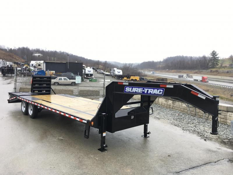 2019 Sure-Trac 102x20+5 17600# Gooseneck Beavertail Deckover Trailer * 8000# AXLE UPGRADE * PIERCED FRAME