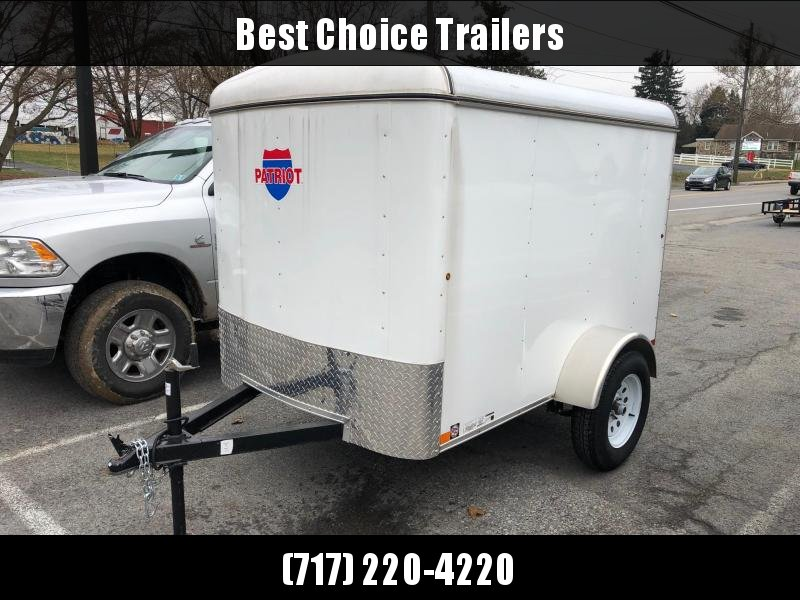 USED 2016 Carry-On 5x8' Enclosed Cargo Trailer Ramp Door