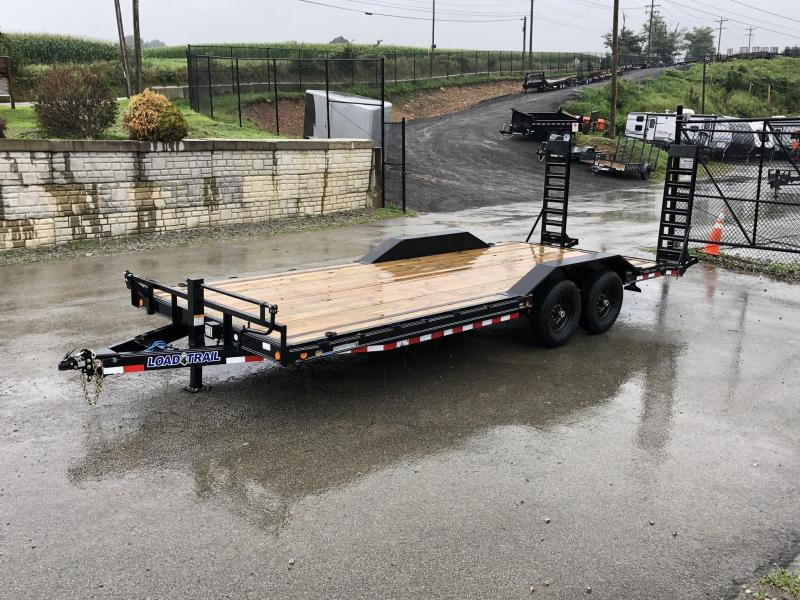 "2019 Load Trail 102x22' Equipment Trailer 14000# GVW * 102"" DECK * DRIVE OVER FENDERS * STAND UP RAMPS * RUBRAIL * DEXTER'S * 2-3-2 * POWDER PRIMER"