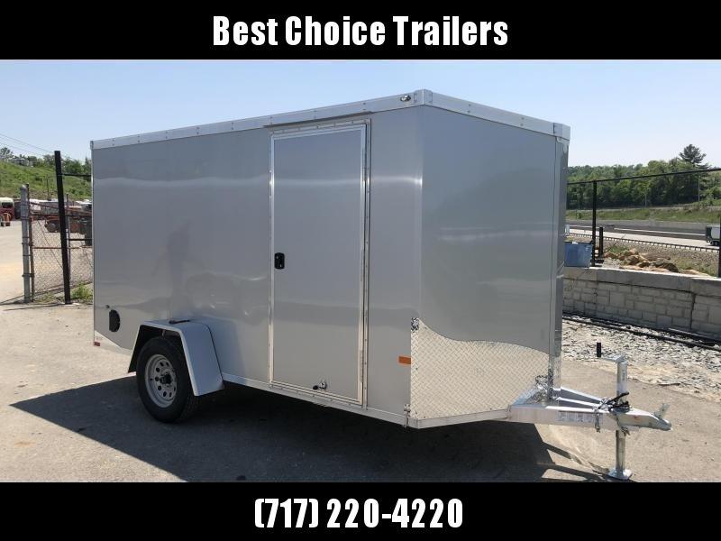 2019 Neo 6x12' NAVF Aluminum Enclosed Cargo Trailer * RAMP DOOR * SILVER