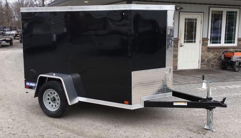 2018 Sure-Trac 5x8' Enclosed Cargo Trailer BLACK * RAMP DOOR * STW6008SA