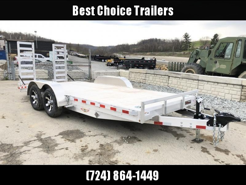 2018 H&H HAD 7x20 ALUMINUM Equipment Trailer 14000# GVW * EXTRUDED ALUMINUM FLOOR * TORSION * SWIVEL D-RINGS * EXTRA STAKE POCKETS * CLEARANCE