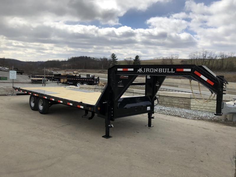 "2019 Iron Bull 102""x22' Gooseneck Deckover Power Tilt 14000# GVW * SPECIAL"