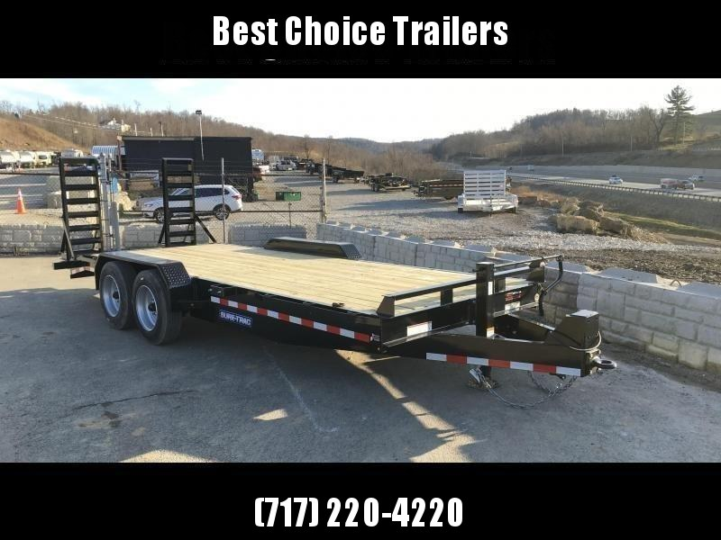 "2019 Sure-Trac Implement 7'x20' 16000# Equipment Trailer * 8K AXLES * 17.5"" RUBBER * 8"" FRAME"