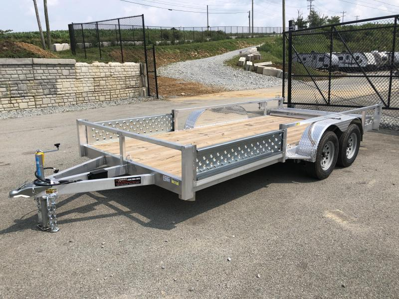 2019 QSA 7x16' Deluxe Aluminum Utility Trailer 7000# GVW * ATV SIDE RAMPS