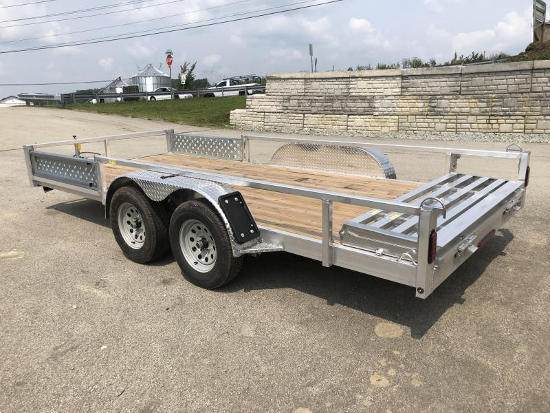 2019 QSA 7x16' Deluxe Aluminum Utility Trailer 7000# GVW * ATV SIDE RAMPS * CLEARANCE - FREE ALUMINUM WHEELS