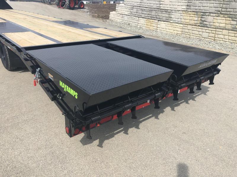 "2019 Load Trail 102x30' Gooseneck Beavertail Deckover Flatbed 14000# Trailer * GH0230072 * MAX Ramps * Dexter Axles * 12"" I-Beam * Zinc Primer * Full toolbox/Dual jacks"