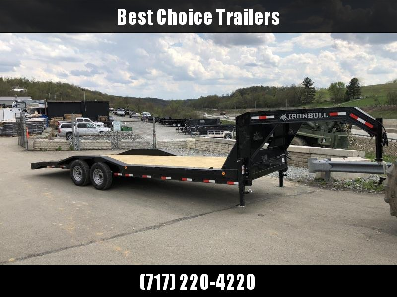 "2018 Ironbull 102x26' Gooseneck Car Hauler Equipment Trailer 14000# GVW * 102"" Deck * Drive Over Fenders"