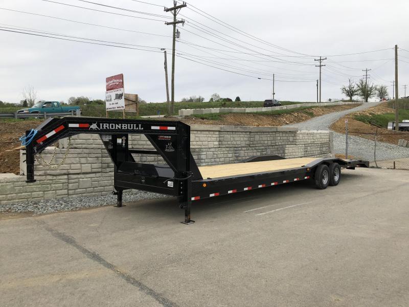 """2018 Ironbull 102x26' Gooseneck Car Hauler Equipment Trailer 14000# GVW * 102"""" Deck * Drive Over Fenders"""