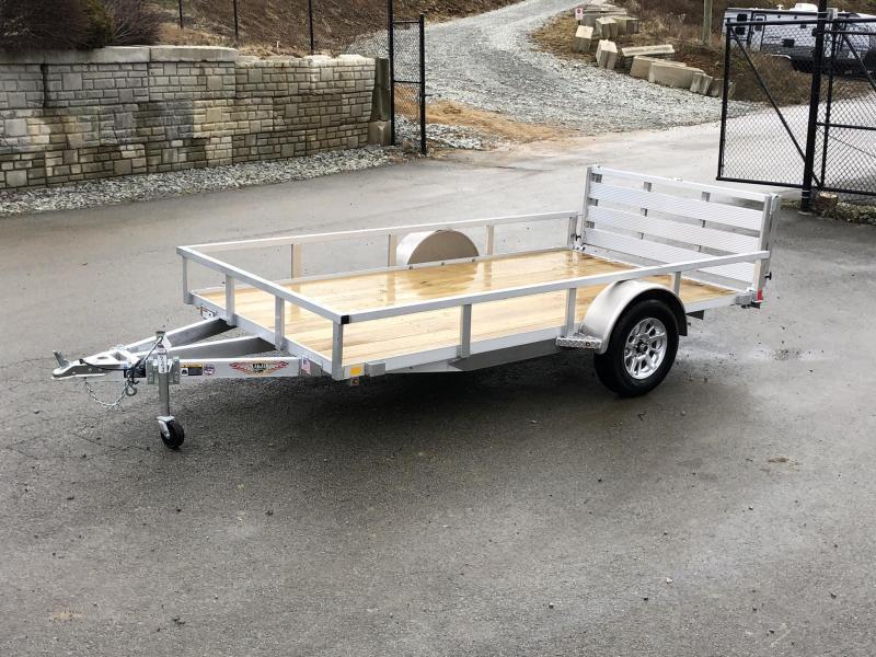 "2020 H&H 76""x12' Aluminum Utility Landscape Trailer 2990# GVW * BI FOLD GATE * ALUMINUM WHEELS"