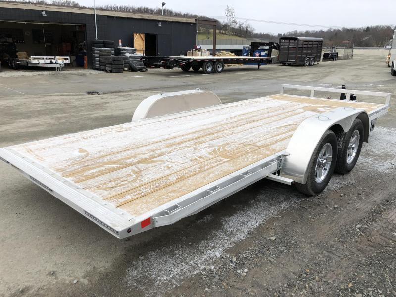 2020 H&H 7x18' Aluminum Manual Tilt Car Trailer 7000# GVW