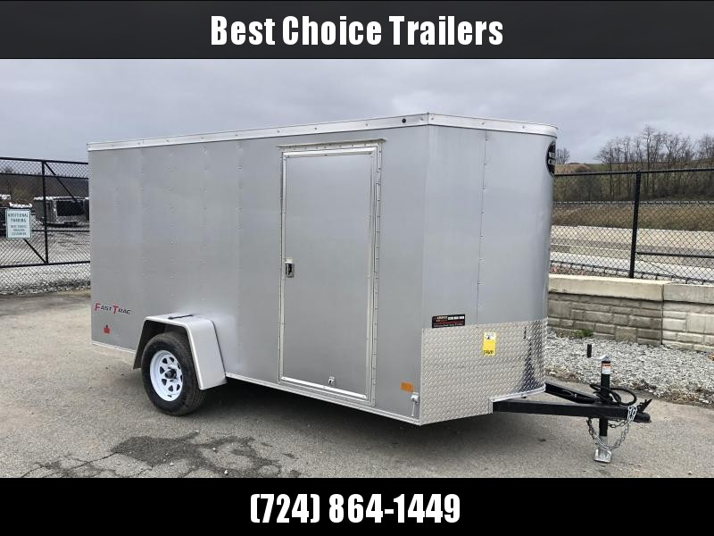 2019 Wells Cargo 6x12' Fastrac Enclosed Cargo Trailer 2990# GVW * SILVER EXTERIOR * RAMP DOOR