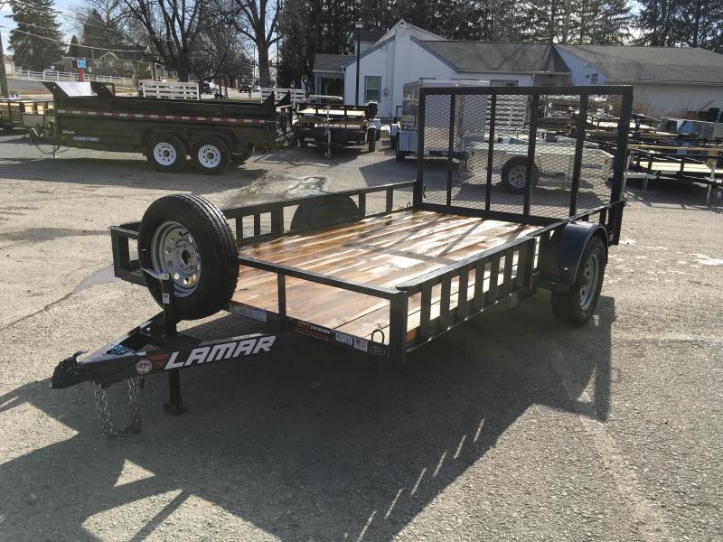 2019 Lamar 7x12' 2990# Landscape Utility Trailer ATV RAMPS CHARCOAL
