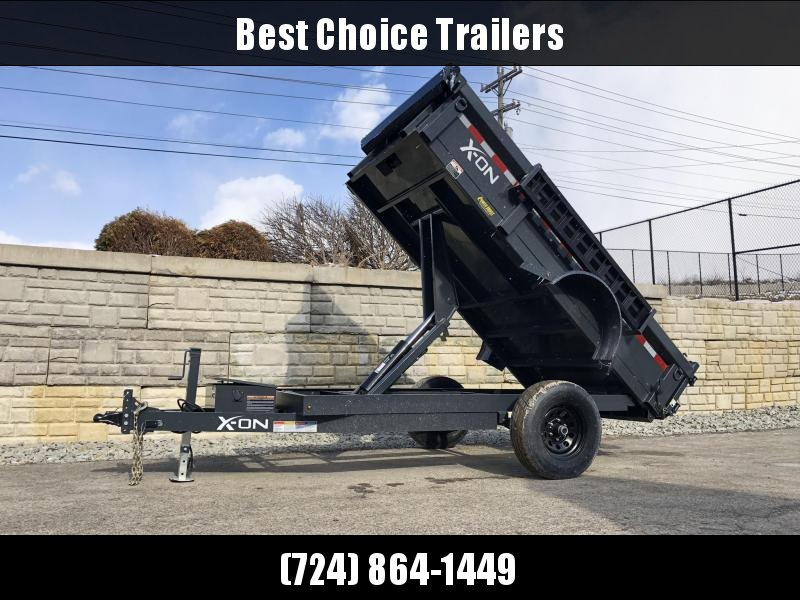 2019 X-on 5X10' Low Profile Dump Trailer 5000# GVW * TARP KIT * SCISSOR * 3 WAY GATE * 10 GA SIDES & FLOOR * 110V CHARGER * CAST COUPLER * DROP LEG JACK