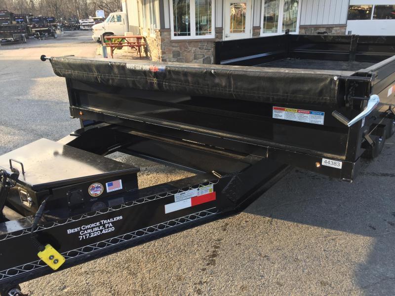 2018 Lamar 8x16' Deckover Dump Trailer 14000# GVW - FOLD DOWN SIDES