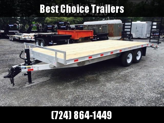 2017 H&H 102x18+4 Aluminum Deckover Equipment Trailer 14000#  ** CLEARANCE