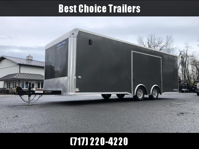 2019 Sure Trac Racing Pro Enclosed Car Hauler Trailer * STBNRP10224TA-100 * NEW MODEL * LOADED * FULL ESCAPE HATCH * SILVER