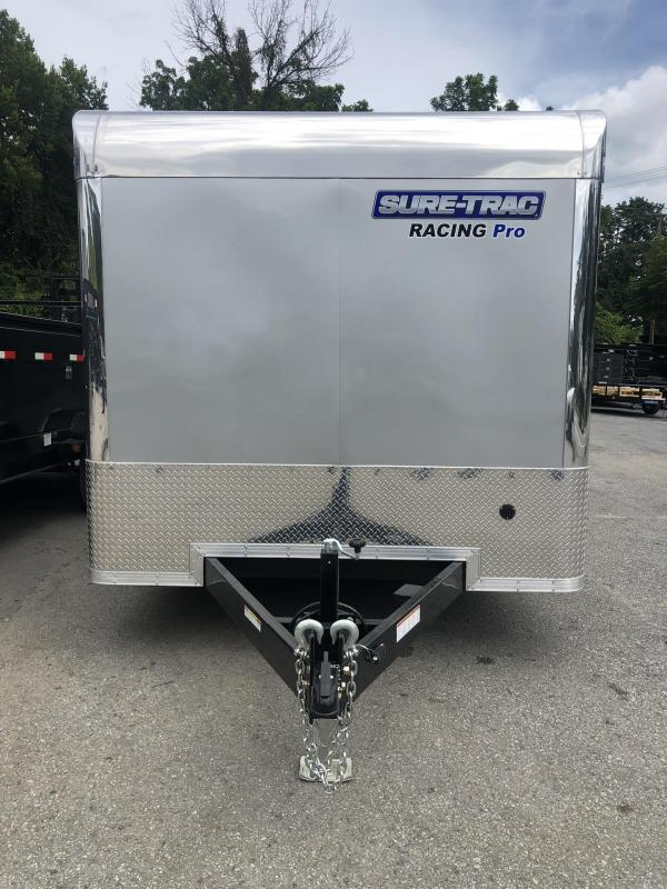 2020 Sure Trac Racing Pro Enclosed Car Hauler Trailer * STBNRP10224TA-100 * NEW MODEL * LOADED * FULL ESCAPE HATCH * SILVER