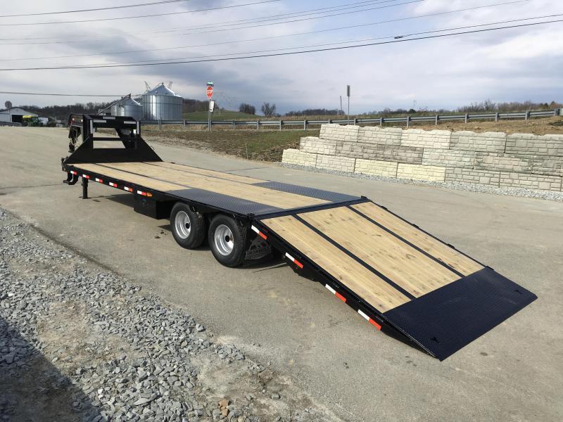 2019 Ironbull 102x32' Gooseneck Deckover Flatbed Hydraulic Dovetail 22000# GVW * BLACKWOOD TAIL