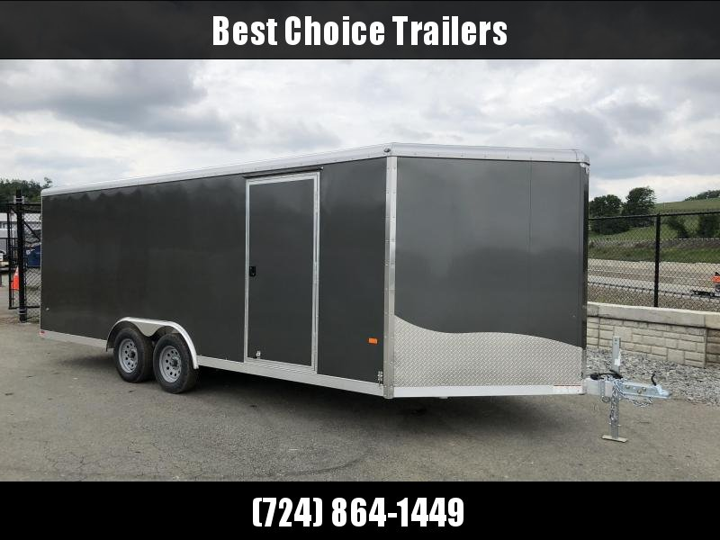 2018 NEO 8.5x20' NCBR Aluminum Round Top Enclosed Car Hauler Trailer 7000# GVW NCB2085R * VINYL WALLS