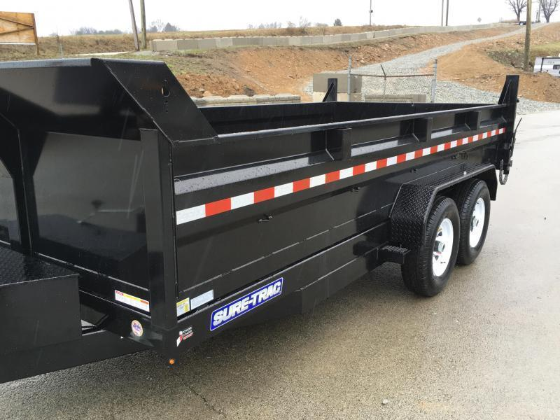 2019 Sure-Trac 7x16' HD LowPro Dump Trailer 14000# GVW * TARP KIT * SPARE TIRE