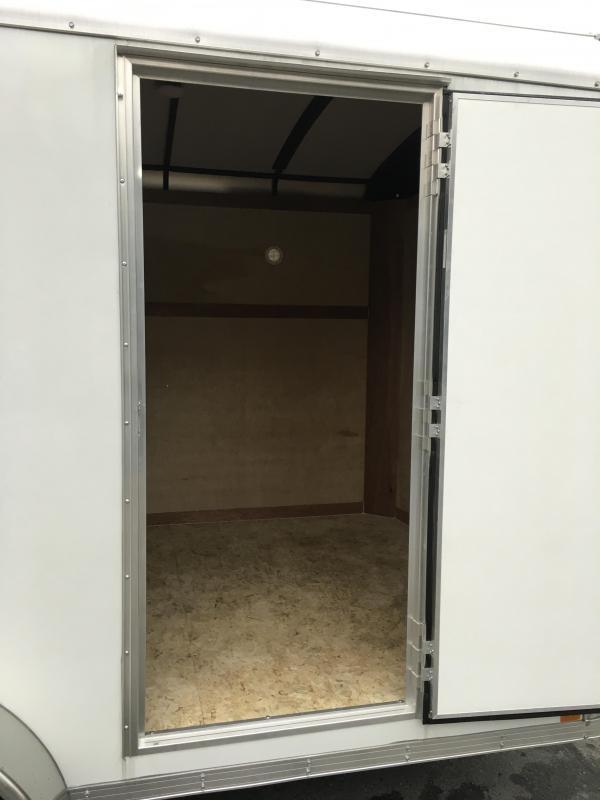 2019 Sure Trac 7x14' Enclosed Cargo Trailer 7000# GVW * ROUND TOP * WHITE * RAMP