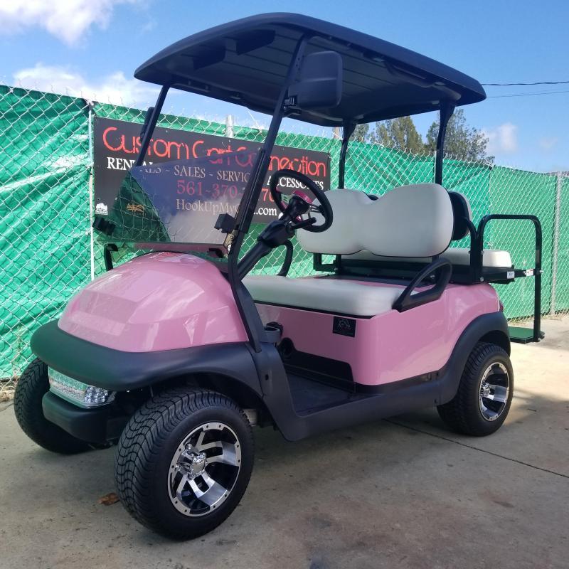Custom Pink Club Car Precedent i2 Personal (Electric) Golf Cart