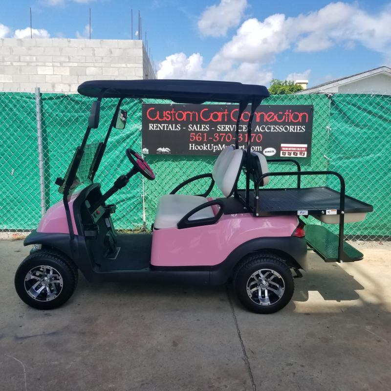 Custom Pink Club Car Precedent i2 Personal (Electric) Golf Cart