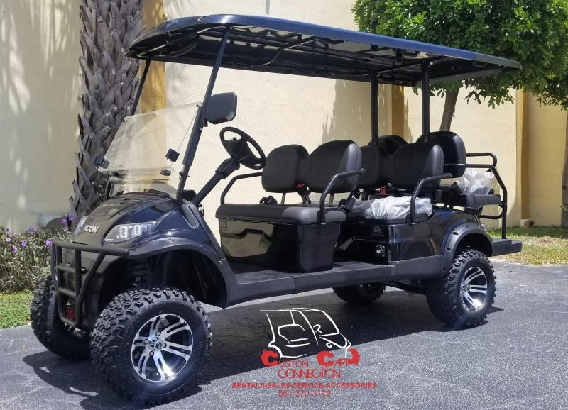 2019 ICON i60L Black Lifted Golf Cart