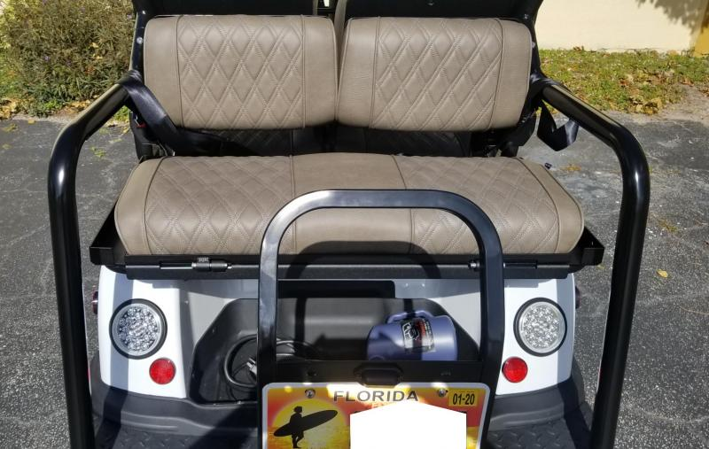 2019 White Tomberlin Ghosthawk Golf Cart