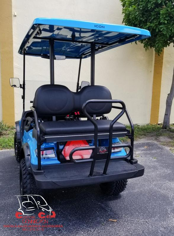 2019 ICON i40L Caribbean Blue Lifted Golf Cart