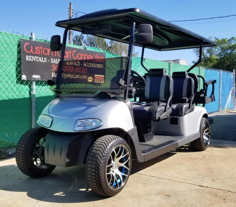 2014 Silver E-Z-GO RXV 6 Passenger Golf Cart