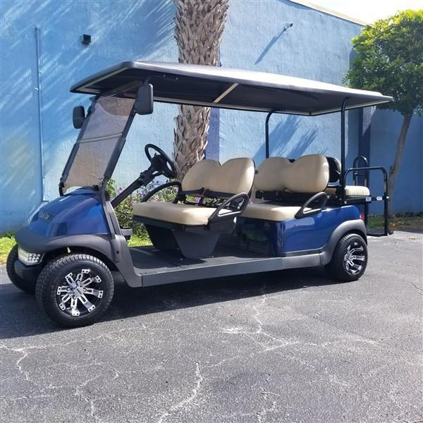 2018 Blue 6 Passenger Stretch Limo Club Car Precedent Golf Cart 20MPH