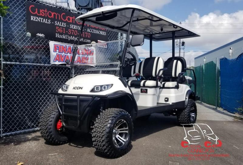 2019 ICON i60L Alphine White Golf Cart Electric Vehicle