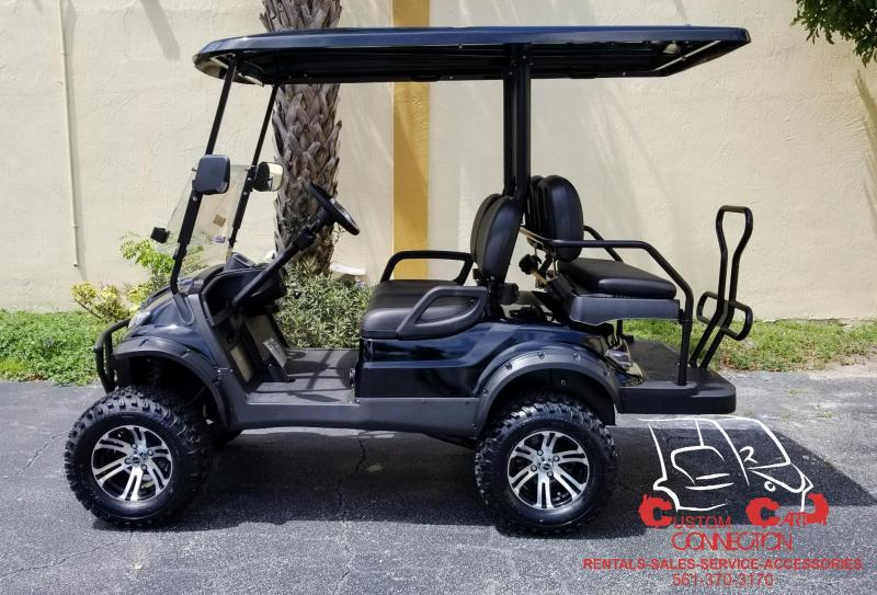 2019 ICON i40L Black Lifted Golf Cart ElectriC Vehicle
