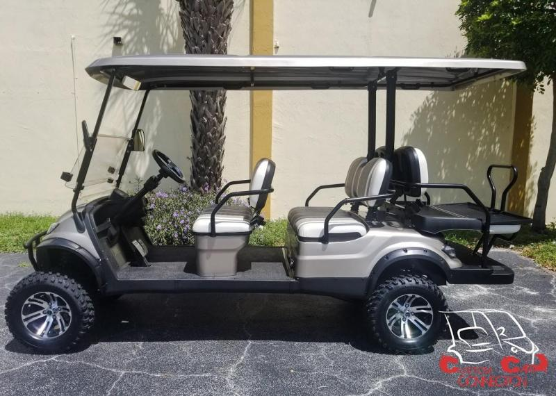 2019 ICON i60L Champagne Lifted Golf Cart