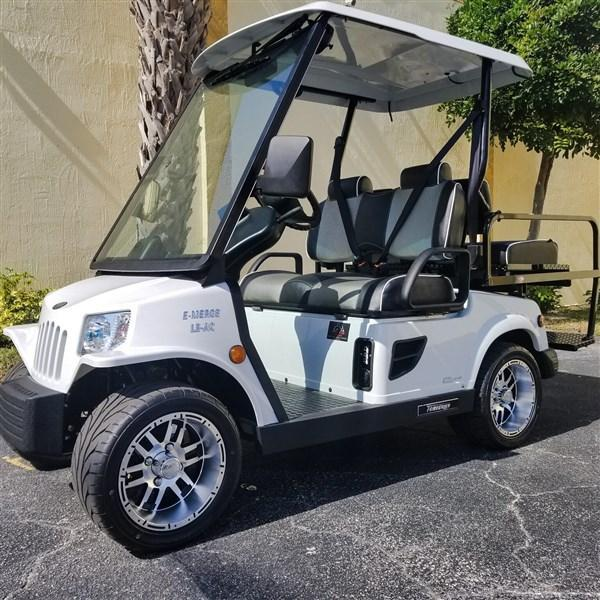 2019 White 4 Passenger Tomberlin E-Merge E2 LE Plus w/ Power Steering Golf Cart